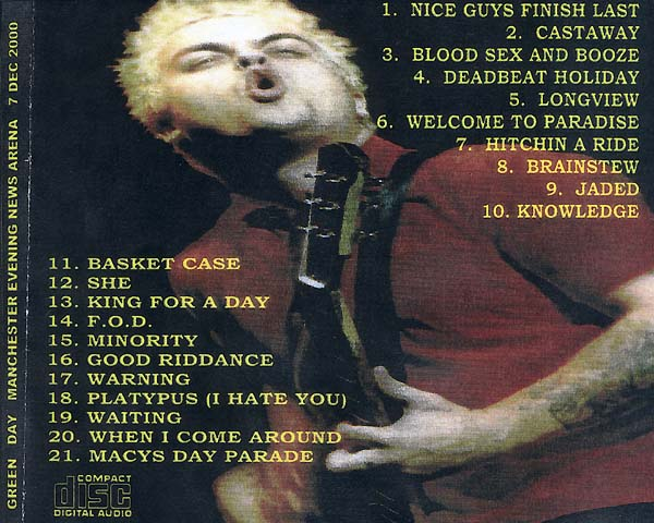 greendayvideos com -- Green Day CD-R Bootlegs